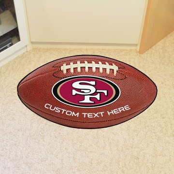 Picture of San Francisco 49ers Personalized Football Mat