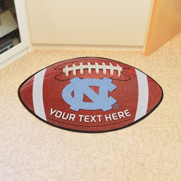 Picture of Personalized UNC University of North Carolina - Chapel Hill Football Mat