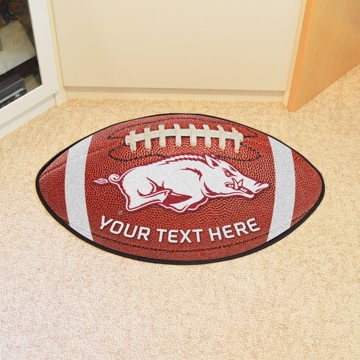 Picture of Personalized University of Arkansas Football Mat