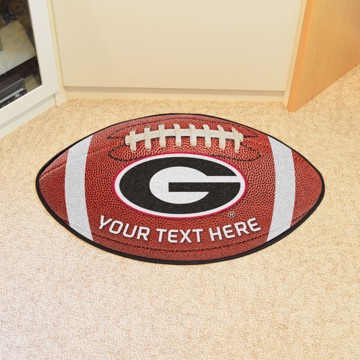 Picture of Personalized University of Georgia Football Mat