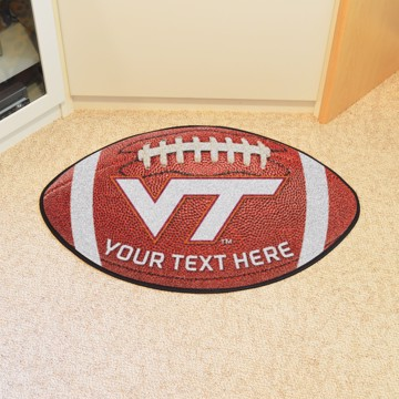 Picture of Personalized Virginia Tech Football Mat