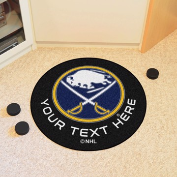 Picture of Buffalo Sabres Personalized Hockey Puck Mat Rug