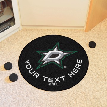Picture of Dallas Stars Personalized Hockey Puck Mat