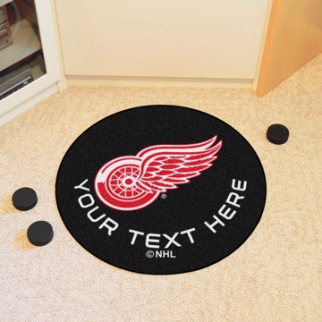 Picture of Detroit Red Wings Personalized Hockey Puck Mat