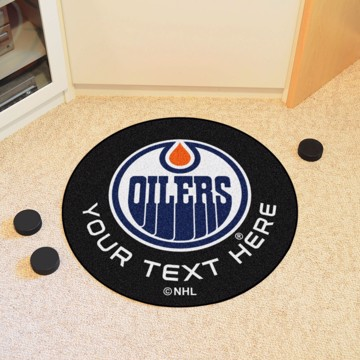 Picture of Edmonton Oilers Personalized Hockey Puck Mat