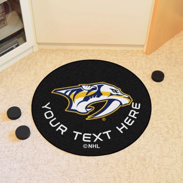 Picture of Nashville Predators Personalized Hockey Puck Mat