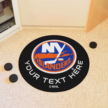 Picture of New York Islanders Personalized Hockey Puck Mat
