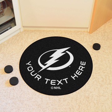 Picture of Tampa Bay Lightning Personalized Hockey Puck Mat