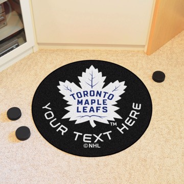 Picture of Toronto Maple Leafs Personalized Hockey Puck Mat