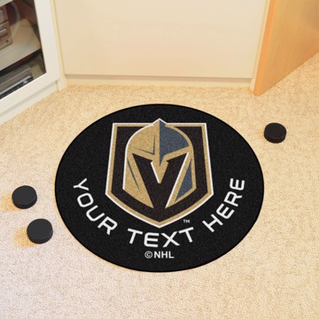Picture of Vegas Golden Knights Personalized Hockey Puck Mat
