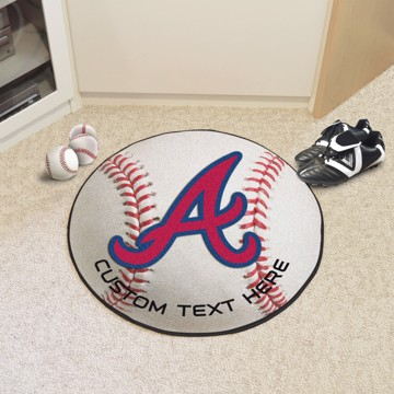 Picture of Atlanta Braves Personalized Baseball Rug