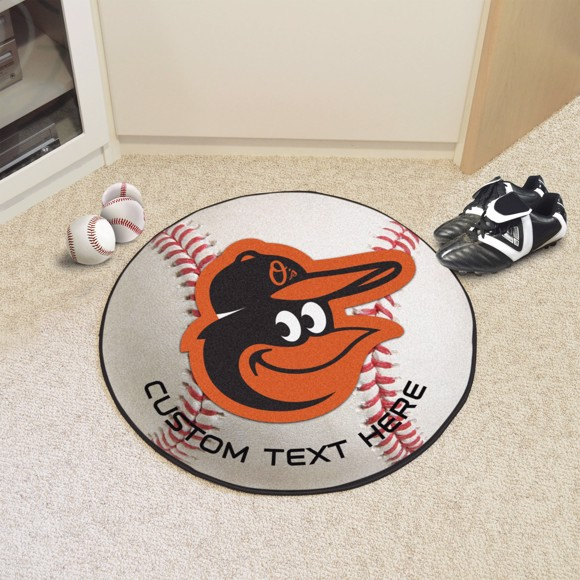 Picture of Baltimore Orioles Personalized Baseball Rug