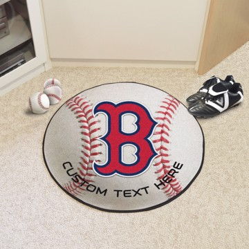 Picture of Boston Red Sox Personalized Baseball Rug