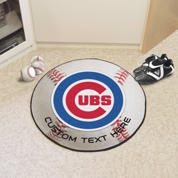 Picture of Chicago Cubs Personalized Baseball Rug