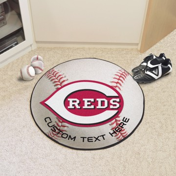 Picture of Cincinnati Reds Personalized Baseball Rug