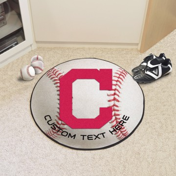 Picture of Cleveland Indians Personalized Baseball Rug