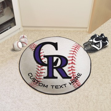 Picture of Colorado Rockies Personalized Baseball Rug