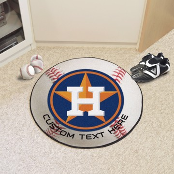 Picture of Houston Astros Personalized Baseball Mat