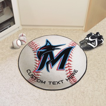 Picture of Miami Marlins Personalized Baseball Mat