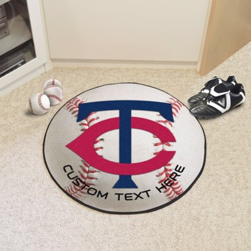 Picture of Minnesota Twins Personalized Baseball Mat
