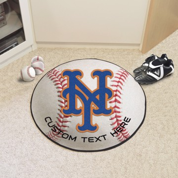 Picture of New York Mets Personalized Baseball Mat