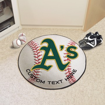 Picture of Oakland Athletics Personalized Baseball Mat