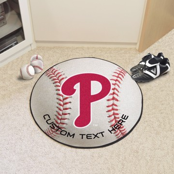 Picture of Philadelphia Phillies Personalized Baseball Mat