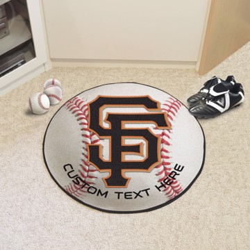 Picture of San Francisco Giants Personalized Baseball Mat