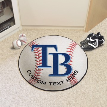 Picture of Tampa Bay Rays Personalized Baseball Mat