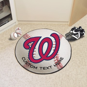 Picture of Washington Nationals Personalized Baseball Mat