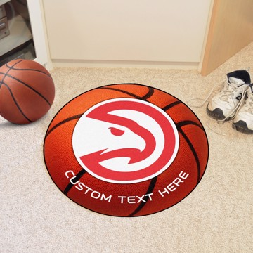 Picture of NBA - Atlanta Hawks Personalized Basketball Mat Rug