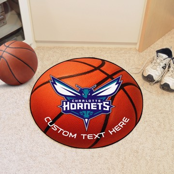 Picture of NBA - Charlotte Hornets Personalized Basketball Mat Rug