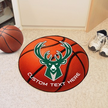 Picture of NBA - Milwaukee Bucks Personalized Basketball Mat