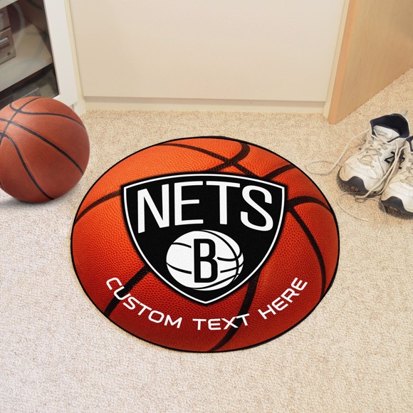 Picture of NBA - Brooklyn Nets Personalized Basketball Mat Rug