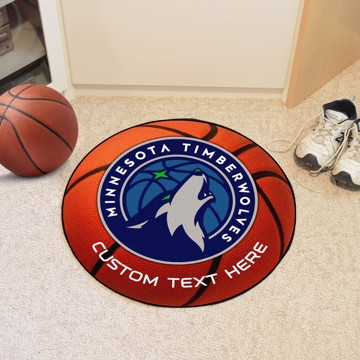 Picture of Minnesota Timberwolves Personalized Basketball Mat