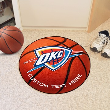 Picture of NBA - Oklahoma City Thunder Personalized Basketball Mat