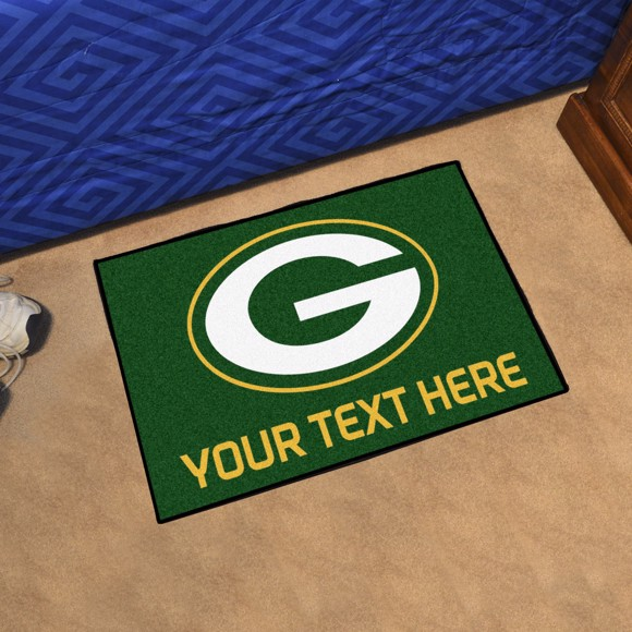 Picture of Green Bay Packers Personalized Starter Mat