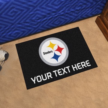 Picture of Pittsburgh Steelers Personalized Starter Mat