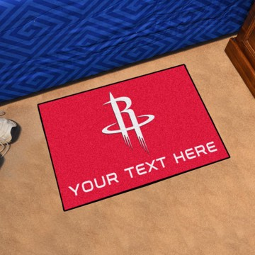 Picture of Houston Rockets Personalized Starter Mat