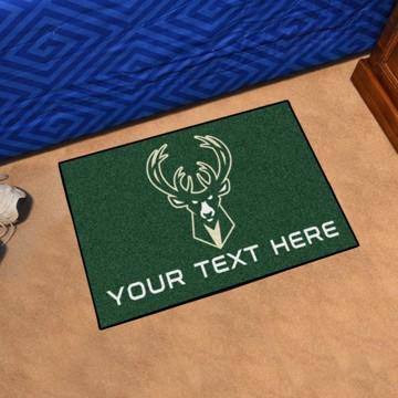 Picture of NBA - Milwaukee Bucks Personalized Starter Mat