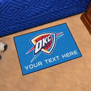 Picture of Oklahoma City Thunder Personalized Starter Mat