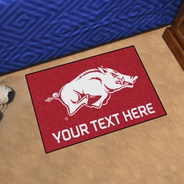 Picture of Personalized University of Arkansas Starter Mat