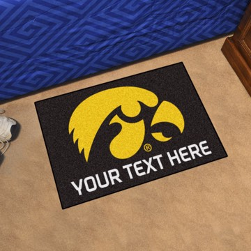 Picture of Personalized University of Iowa Starter Mat