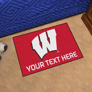 Picture of Personalized University of Wisconsin Starter Mat