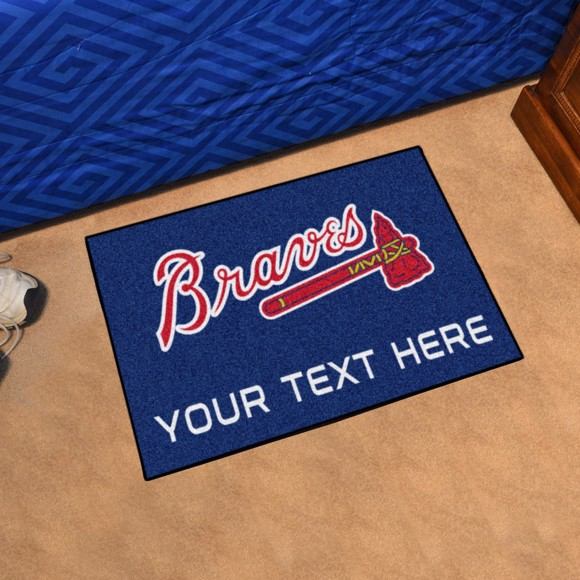 Picture of Atlanta Braves Personalized Accent Rug