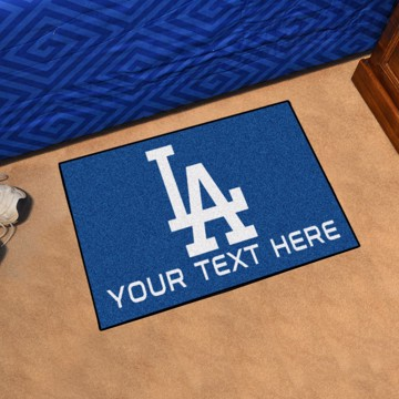 Picture of Los Angeles Dodgers Personalized Starter Mat