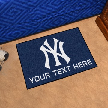 Picture of New York Yankees Personalized Starter Mat