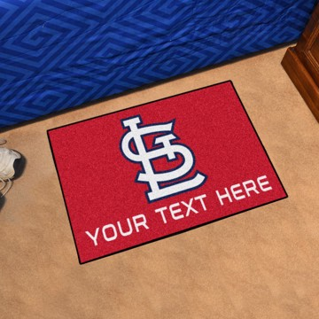 Picture of St. Louis Cardinals Personalized Starter Mat
