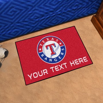 Picture of Texas Rangers Personalized Starter Mat