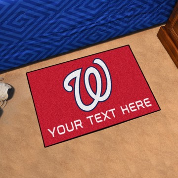 Picture of Washington Nationals Personalized Starter Mat